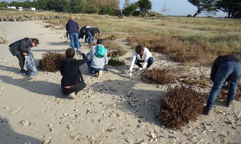 Collecte de déchets – Sur les plages des Moutiers en Retz