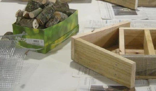 Atelier Nature : fabrication de gîtes à insectes