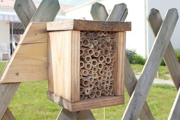 Atelier parents/enfants – Aidons les abeilles sauvages construction d'un hôtel à insectes.